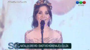 Se me ha perdido un corazón, cantó Natalia Oreiro en un imperdible show al ritmo de Gilda copy