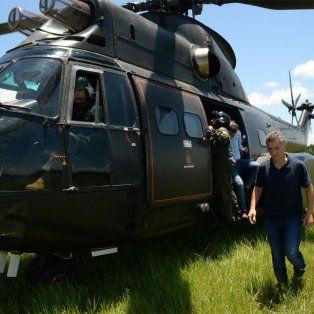 confirman que el helicoptero presidencial tuvo un aterrizaje abrupto