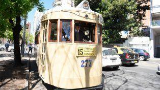 El histórico tranvía volvió a funcionar por unas horas en la ciudad.