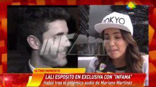 Lali Espósito respondió con ironía a las críticas de Mariano Martínez