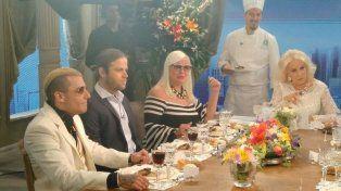 Los hermanos Charlotte y Alexander Caniggia estuvieron en la mesa de Mirtha Legrand.