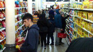 Frío. Las ventas en los supermercados evolucionan por debajo de la inflación.