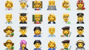 Los nuevos emojis suman más profesiones y gestos.