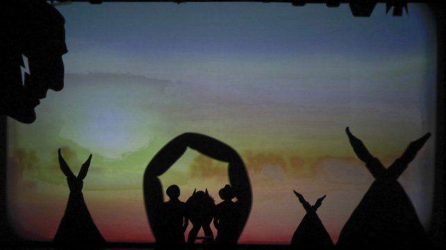 Impresionante show de sombras chinescas