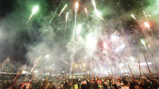 Corea del Sur también fue und erroche de fuegos artificiales para celebrar la llegada de 2017.