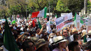 Miles de personas marcharon en México contra las políticas de Trump