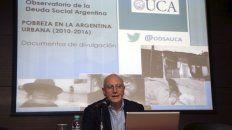 director. Agustín Salvia, de la UCA, difunde los datos a la prensa.