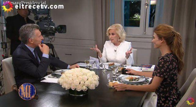 El momento más tenso de la mesaza de Mirtha con Mauricio Macri y Juliana Awada