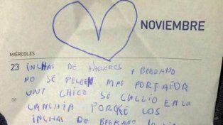 La carta de Luana Cuello pidiendo el cese de la violencia se viralizó.