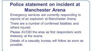 Tras una explosión durante un concierto de Ariana Grande la policía confirmó víctimas fatales