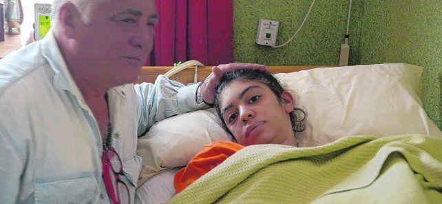 Una pesadilla. Marcelo Conte y su hija Berenice