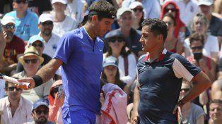 El gran gesto de Del Potro con el español Almagro, quien se retiró lesionado en Roland Garros