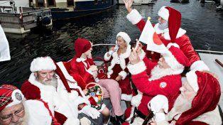 Un singular Congreso Mundial reunió a cientos de Papá Noel que compiten en Dinamarca