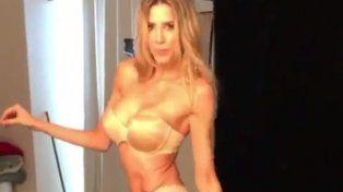 Apareció un video de Guillermina Valdés en el backstage de una producción