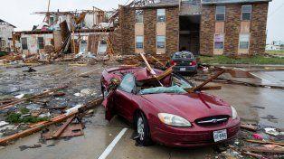 Rockport, en Texas, también fue duramente golpeada por el paso del huracán.