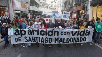 El reclamo. Miles de personas se movilizan por Santiago Maldonado, el joven desaparecido.