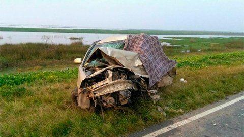 elocuente. Uno de los tantos accidentes que se cobraron vidas en el puente Rosario-Victoria.