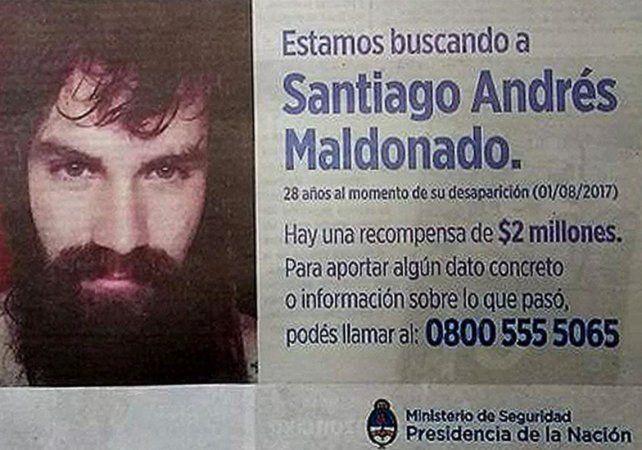 El gobierno publicó una solicitada sobre la búsqueda de Santiago Maldonado