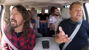 Los Foo Fighters cantaron sus éxitos en el Carpool Kraraoke de James Corden