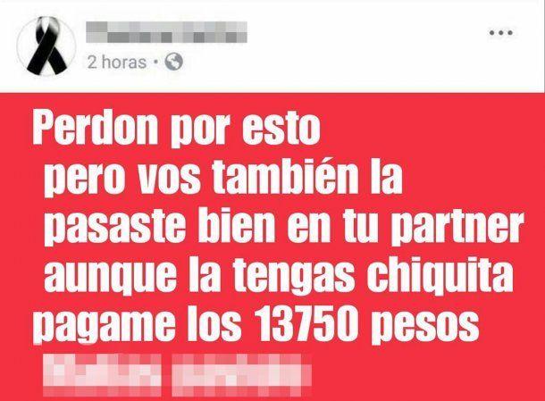 Una travesti denunció en Facebook a los clientes que no le pagaron
