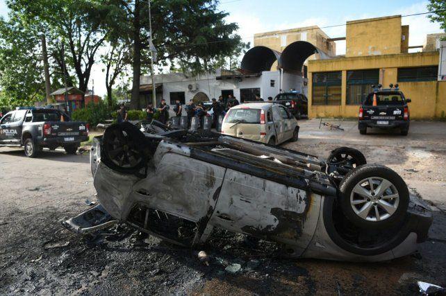 El implicado. Así quedó el auto del conductor que atropelló a la menor.
