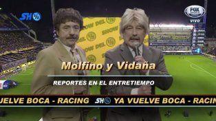 Pablo y Pachu volvieron para animar el entretiempo de la Superliga