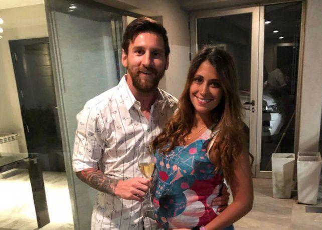 Messi festejó la llegada del nuevo año con su familia