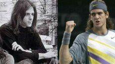 El parecido de Del Potro con el tecladista de Pink Floyd.