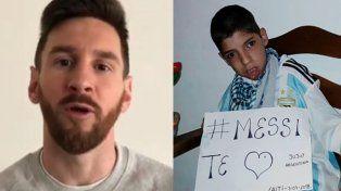 Messi le cumplió el sueño a Lautaro, el chico con parálisis cerebral que movilizó a Jujuy