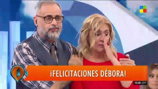 Débora Damato contó que está embarazada y rompió en llanto