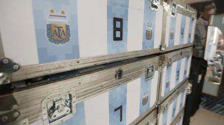 Un contenedor con carne, yerba y parrillas viajan a Rusia con la selección