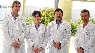 Unidad de trasplante hepático. Parte del equipo de profesionales que realizó la intervención.