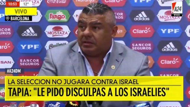 Tapia dijo que la suspensión es un aporte a la paz mundial