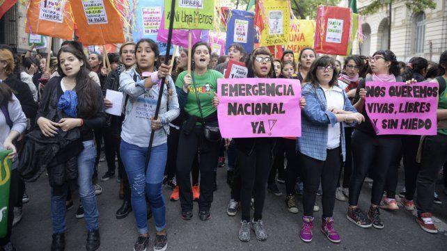 Una de las marchas en contra de la violencia machista.