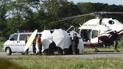 Los doce chicos y su entrenador fueron rescatados tras 17 días en la cueva de Tailandia