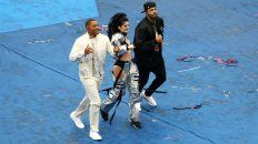 will smith, nicky jam y era istrefi animaron la previa de la final