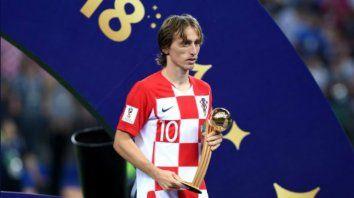el croata luka modric el mejor jugador del mundial, segun fifa