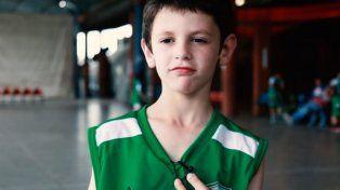 Manu. El nene de 9 años es un deportista todoterreno y se le anima a cualquier disciplina.
