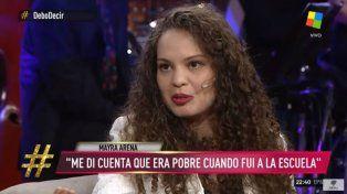 Mayra Arena: Ser pobre es acostarse a dormir y soñar que comés