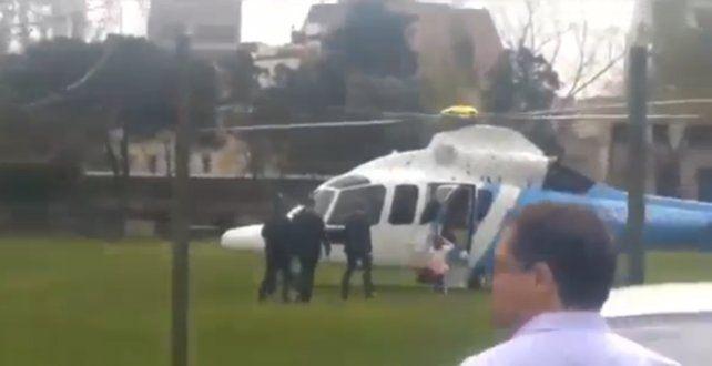 El video de Macri y su hija en el helicóptero presidencial que se viralizó