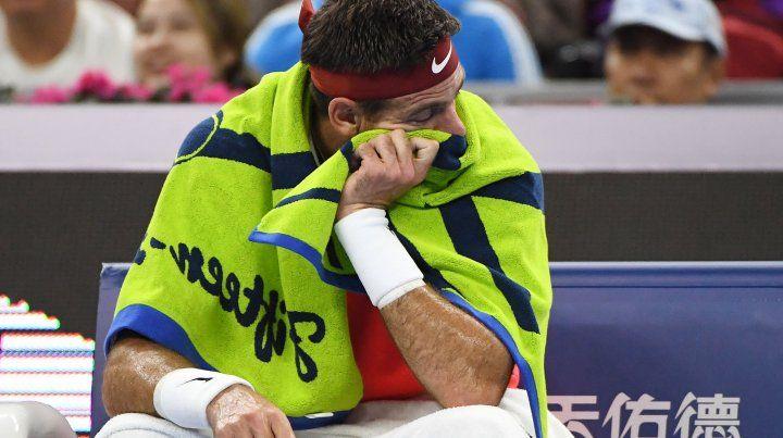 Delpo se bajó del Abierto de Australia por la lesión en la rótula
