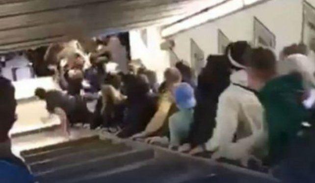 Pánico en Roma al desbocarse una escalera mecánica