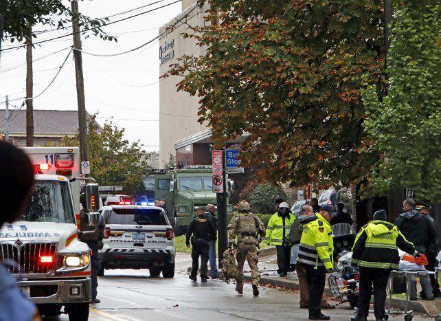 Suman 11 los muertos por el ataque a una sinagoga en Pittsburgh