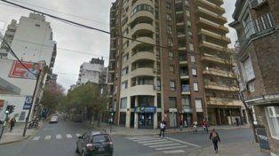 Conmoción. El edificio donde se desató el incidente.