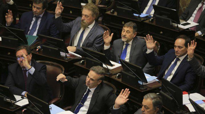 Los senadores convalidaron el proyecto de presupuesto.
