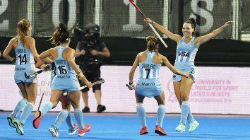 las leonas vencieron a gran bretana y jugaran por el tercer puesto ante china