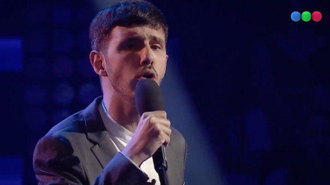 Emocionante versión de Aleluya de un cantante no vidente en La Voz Argentina