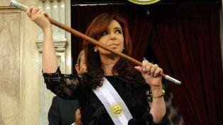 Cristina al asumir su segundo mandato como presidenta.