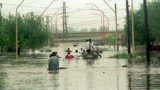 En 2003 se desbordó el río Salado y el agua se metió en el casco urbano con una contundencia inusual.