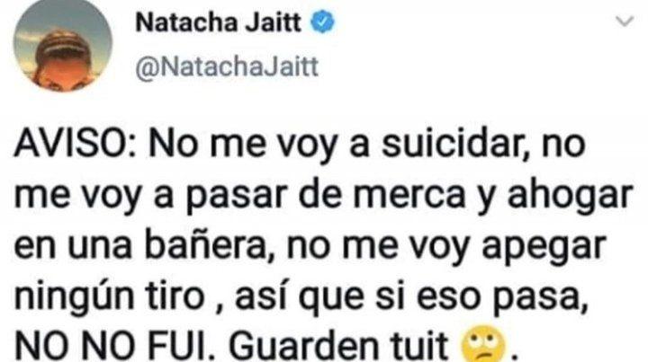 El cuerpo de Natacha Jaitt tenía rastros de cocaína y no se hallaron signos de violencia